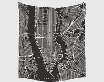 Black And White Subway Map Tapestry.Nyc Tapestry Etsy