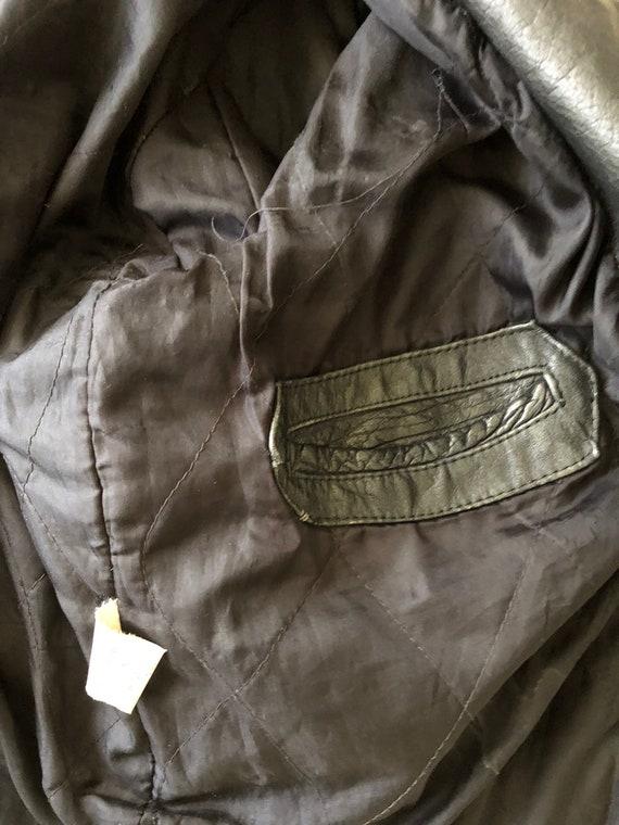 Rad 80s Bonus Sz Leather Biker Grunge Jacket 90s Vintage 42 Moto ABHqUA