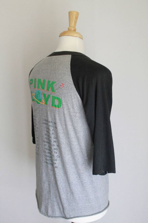 Thin Vintage Side Floyd Shirt Paper The Raglan Of M Moon Dark Tour Pink 1987 HHrxnq4w75
