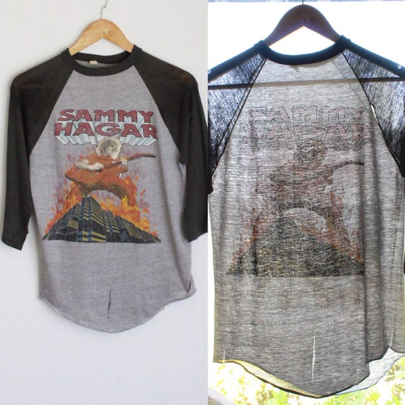 80s Tee Raglan Vintage Sammy US Vintage 1983 Tour Shirt Baseball T Hagar PwvSHB