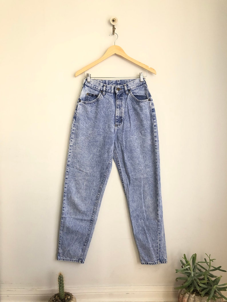 Vintage LEE Acid Washed High Waisted 80s 90s Rad Mom Jeans