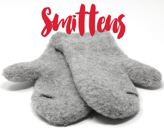 Smittens Ergonomic Felted Mittens With An Index Finger Etsy