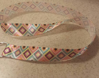 Aztec Southwest Tribal Handmade Ribbon Lanyard