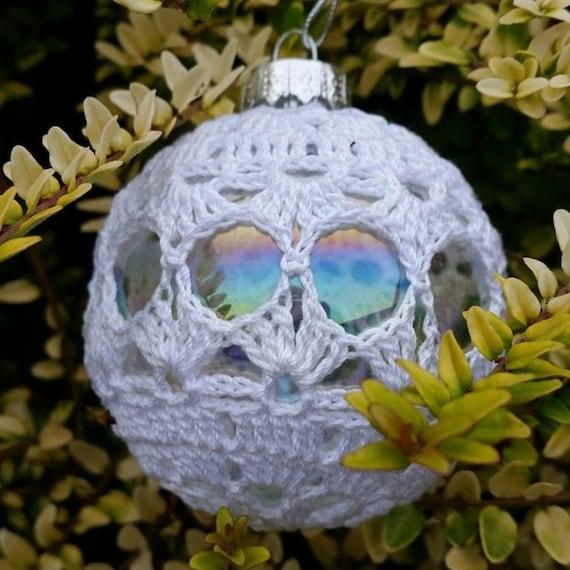 Glas Christbaumkugel häkeln Weihnachtsbaum Dekoration | Etsy