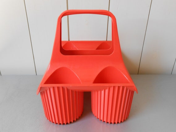 Peachy Vintage 1970S Curver Bottle Wine Carrier Holder In Orange Plastic Made In Holland Dutch Design Wine Rack Basket Mid Mod Retro 70S Design Ocoug Best Dining Table And Chair Ideas Images Ocougorg