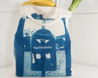 Cyanotype Tote Bag. My Backyard: Berlin. FairTrade