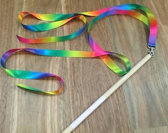 Outdoor Toys For Girls : Rainbow ribbon wand rhythmic gymnastics ribbon girls gifts etsy