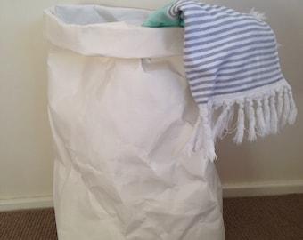 Washable Paper Basket JUMBO / Washable Paper Plant Holder / laundry Basket / laundry hamper / Eco Bag / Paper Bag / Washable paper bag