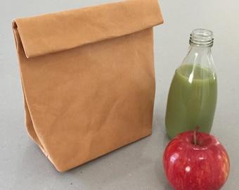 Sac en papier papier déjeuner sac Lunch Bag Eco sac papier sac lavable lavable Eco emballage