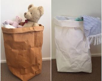 JUMBO de paniers papier lavable / paniers à linge / lavable sacs en papier