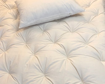 Wool-Filled Mattress Topper, Pad, a luxurious sleep product of Natural Fibers, Handmade.   Be Warmer in Winter, Cooler in Summer