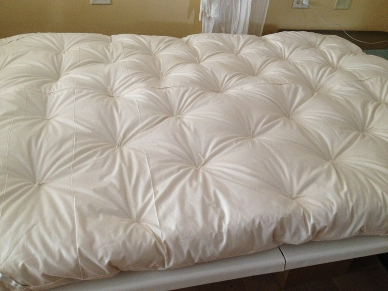 Wool-Filled Mattress Topper Pad a luxurious sleep product of image 0