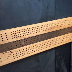 Cherry  brown epoxy resin Cribbage board