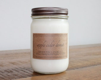 Apple Cider Donut Soy Mason Jar Candle - 12 ounce
