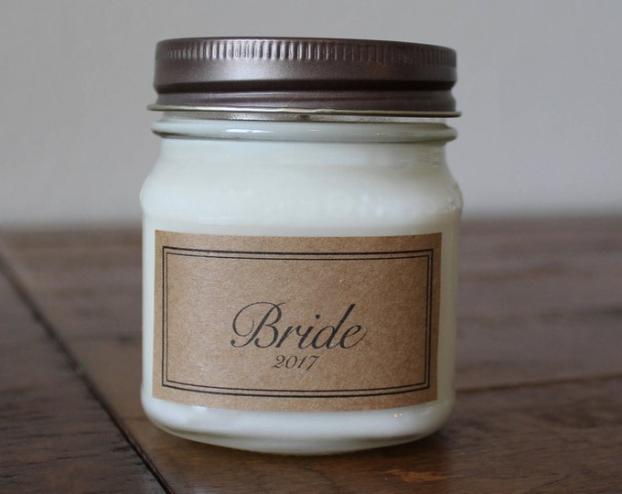8 Ounce Bride Soy Candle - Bridal Shower Gift - Gift for Bride