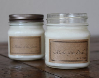 8 Ounce Mother of the Bride / Mother of the Groom Soy Candle - Mother Wedding Gift - Gift for Mother of Bride - Gift for Mother of Groom