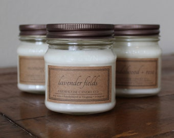 Choose Any Three 8-Ounce Mason Jar Soy Candles