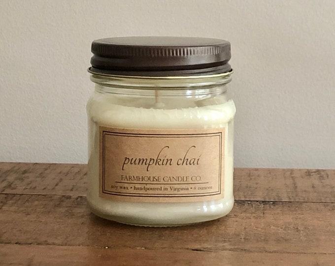 Pumpkin Chai Soy Mason Jar Candles - 8 ounce
