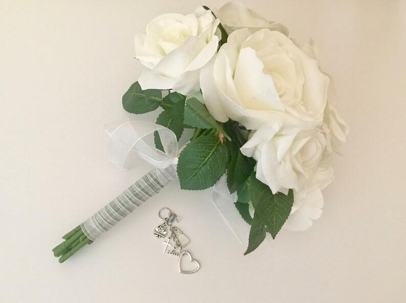 Wedding Bouquet Charm KeepsakeWedding KeepsakeBridal Shower GiftSomething BlueBridal BouquetBridesmaids Gifts