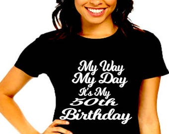 50th Birthday Shirt For Women 50 And Fabulous T Gift Girl Queen