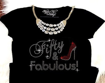 50th Birthday Shirt For Women Fifty And Fabulous 50 T Tee Gift