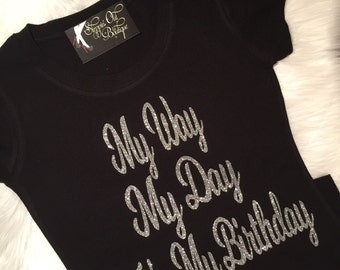 5a549ff8e Birthday Shirt for Women, Birthday Girl Shirt, Birthday Gift, Birthday  Gifts, Girls Getaway, Glitter Shirt
