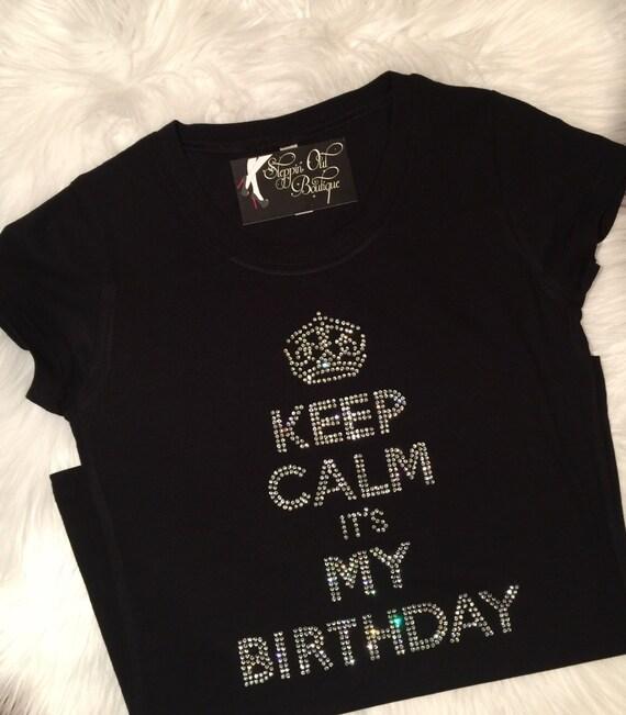 Birthday Girl Shirt Womens Rhinestone