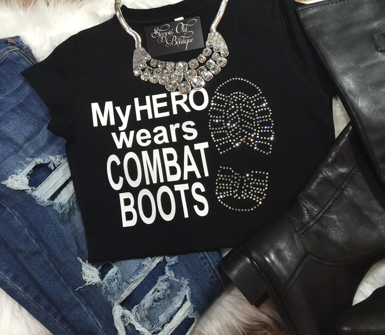 e6c644355 My Hero Wears Combat Boots Army Wife Air Force Mom Army | Etsy