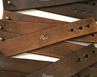"""Wholesale Leather Cuffs- Soft Distressed Leather Wristbands-Genuine Leather 1.5"""" wide leather cuff- Vintage"""