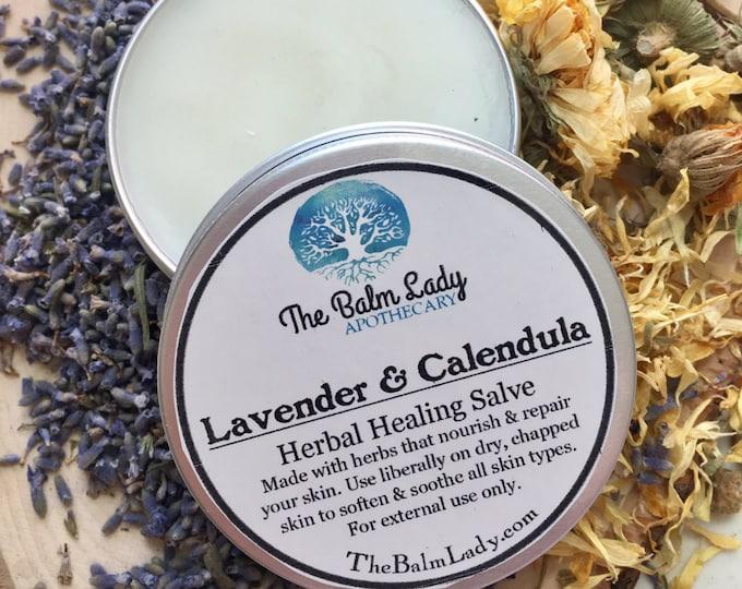 Lavender & Calendula Herbal Healing Salve | for Gardener's Hands | Skin Nourishing | Skin repair | Aromatic, Effective, Silky Smooth
