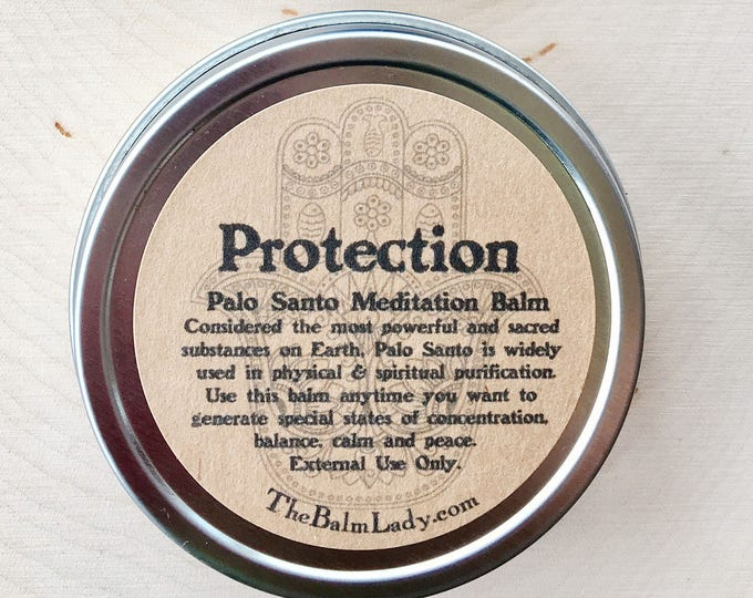Palo Santo Protection Balm | Release negative energies, protect your home, family, positive energy vibration, sacred wood smudge, good mojo