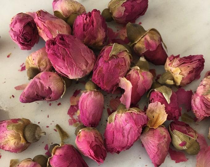 Red Rose Buds | Dried Rose | Bulk Herbs 1 oz Dried Flowers | Dried Roses, Red Roses | Fragrant Red Rose, Dried Roses | Tea, Soap, Weddings