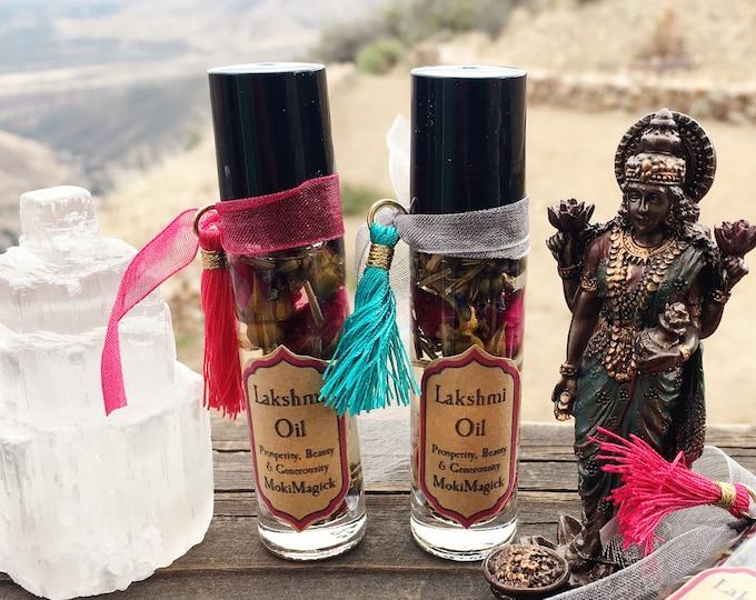 Lakshmi Goddess Oil, Bring Blessings, Prosperity, Fortune, Love, Spiritual Wealth, Hindu Goddess, 10 ml, Prosperity Goddess of Luck