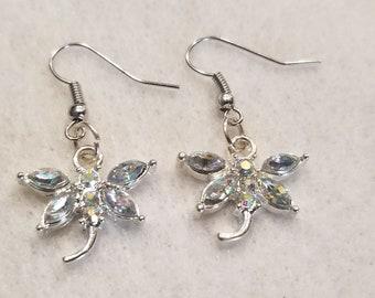 Bling dragonfly earrings