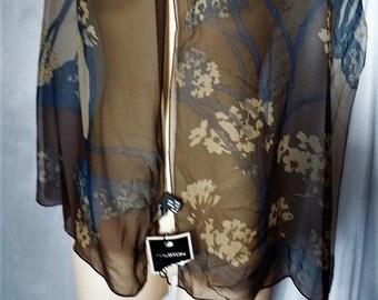 Halston chiffon silk scarf