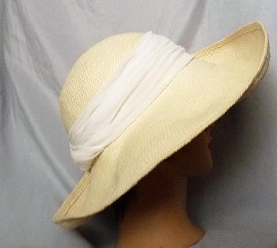 Frank Olive wide brim straw hat m - image 1