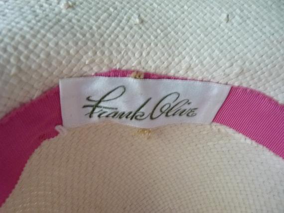 Frank Olive wide brim straw hat m - image 4