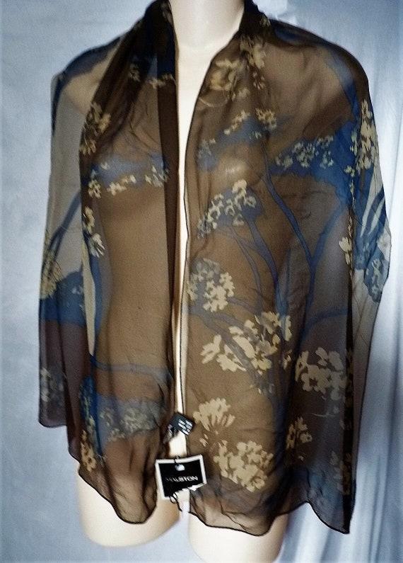 Halston chiffon silk scarf - image 1