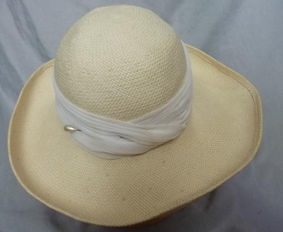 Frank Olive wide brim straw hat m - image 2