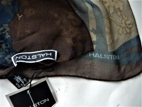 Halston chiffon silk scarf - image 2