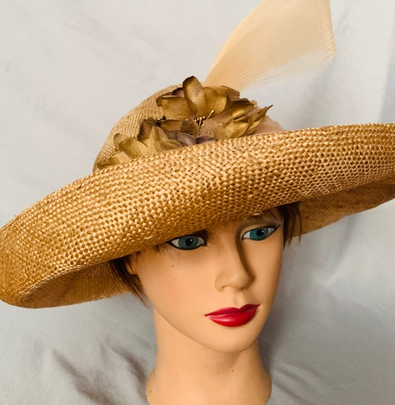 Whittal & Shon wide brim straw hat
