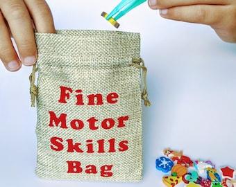 Custom Tote Kids Bag Girl Fine Motor Activity Gift Project Lunch Montessori Baby Small Funny Bag Grandchildren Gift