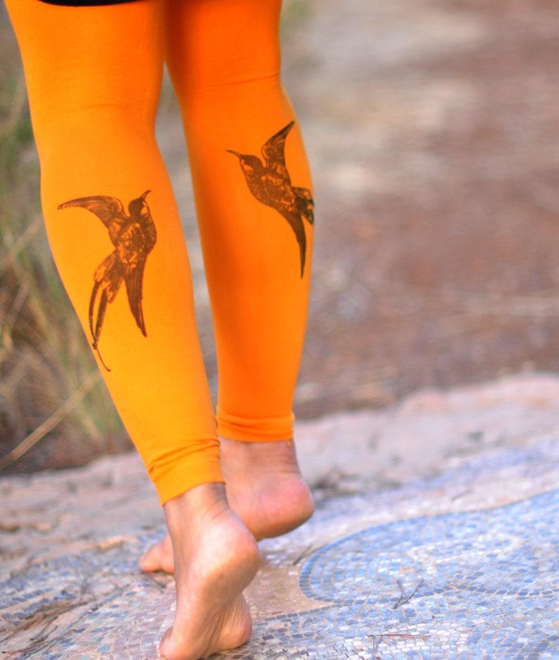 Femmes vêtements oiseau impression vêtements collants.  c733c94188f
