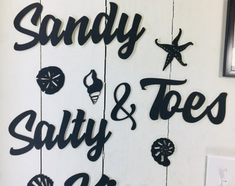 Sandy toes quote | Etsy