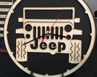 Jeep Clock 13x13 inches, hangable