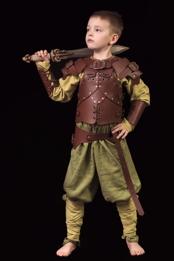 Steampunk Kids Costumes | Girl, Boy, Baby, Toddler Leather armor for kids unisex $150.00+ $150.00 AT vintagedancer.com