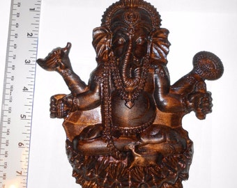 "Wooden carving ""Ganesha"" (pine) SIZE: 8"" x 7"" Wall Art, Decor, Hinduism, religion"