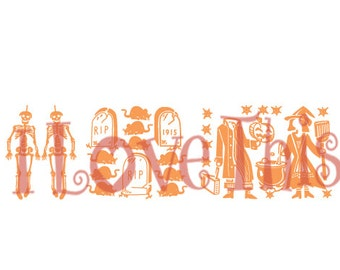 Pyrex Halloween Butterprint vinyl decal
