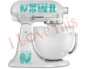 Pyrex Butterprint vinyl decals - Perfect for your mixer