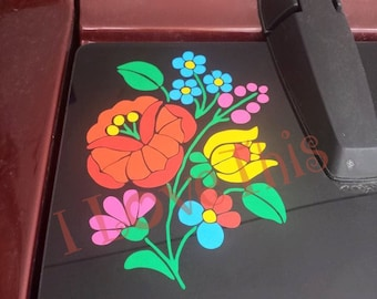 Kalocsa Hungarian Embroidery Flowers vinyl decal